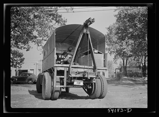 Washington, D.C. A United States Government truck equipped with a winch and double tires for heavy hauling