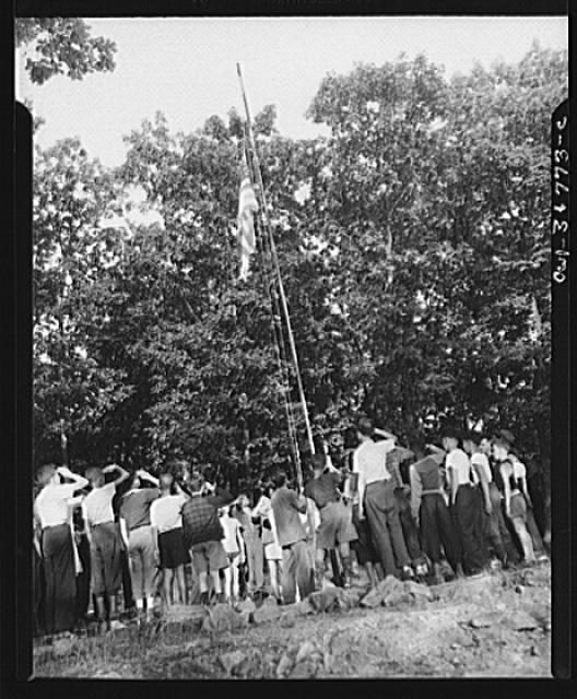 Southfields, New York. Interracial activities at camp Nathan Hale, where children are aided by the Methodist Camp Service. Retreat