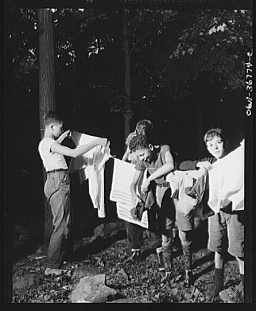 Southfields, New York. Interracial activities at camp Nathan Hale, where children are aided by the Methodist Camp Service. A camper must be clean