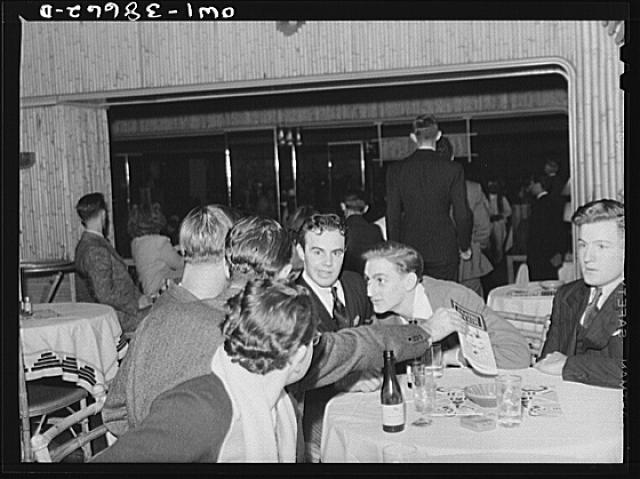 Youth at a restaurant night club. Chicago, Illinois