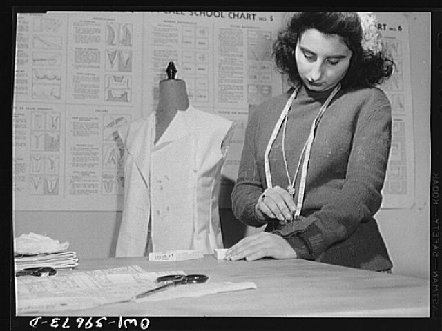 Washington, D.C. A sewing class at Woodrow Wilson High School