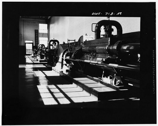 Tulsa, Oklahoma. Pump room at the Great Lakes pipeline station