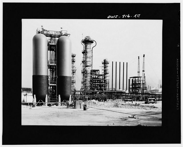 Borger, Texas. The Phillips refinery