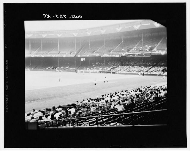 Detroit, Michigan. Detroit-Cleveland baseball game