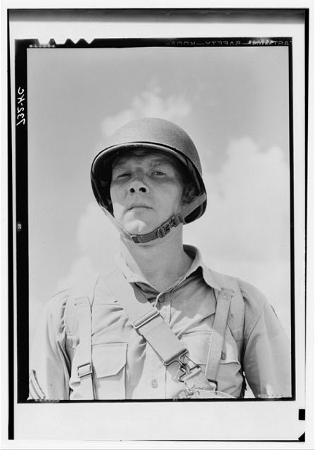 Portrait of a U.S. Army paratrooper
