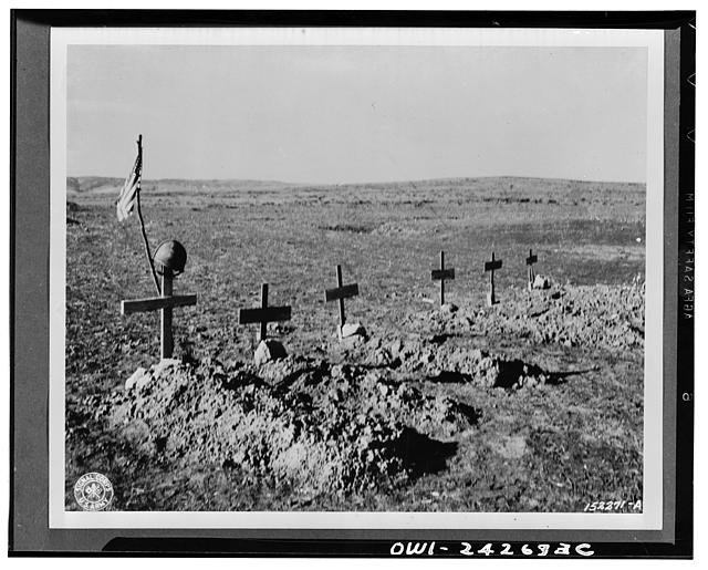 Graves of six American soldiers killed in action in North Africa