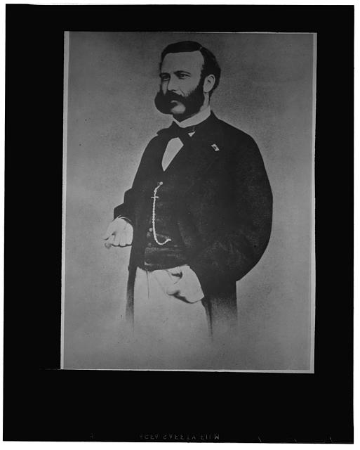 Jean Henri Dunant (1828-1910) Swiss author and philanthropist, founder of the Red Cross society (an early photograph)