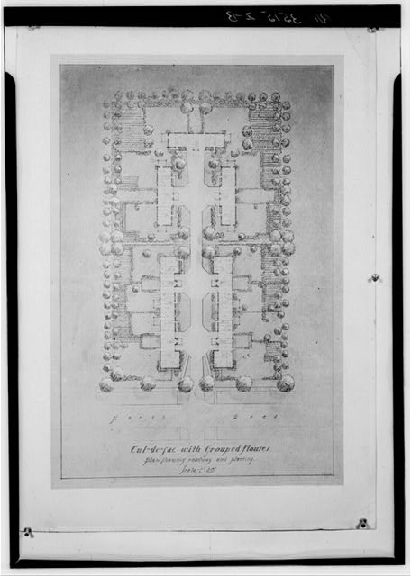 Plan showing roadway and planting. Greendale, Wisconsin