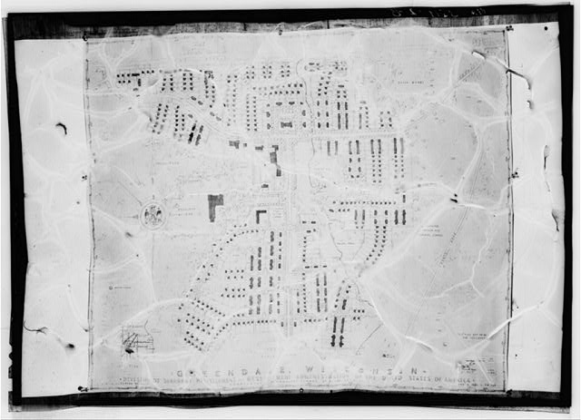 Town plan. Greendale, Wisconsin. Planned by Suburban Resettlement Division