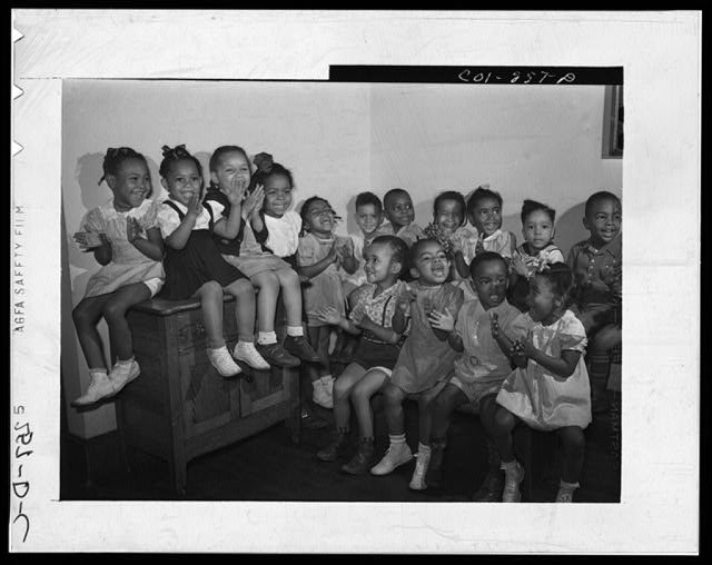 Atlanta University, Atlanta, Georgia. Nursery children