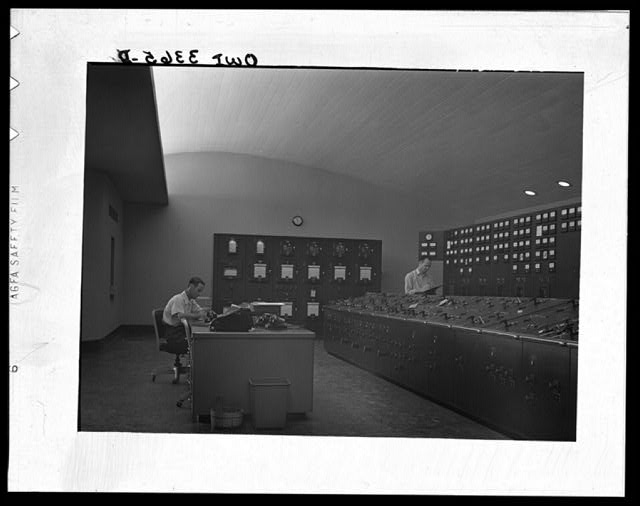 Watts Bar Dam, Tennessee. Tennessee Valley Authority. Control room