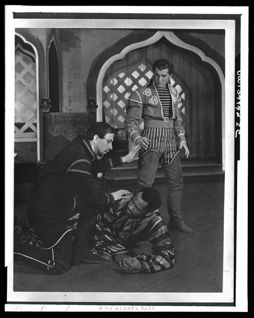 "[Scene from ""Othello"" with Paul Robeson (center), Theatre Guild Production, Broadway, 1943-44]"