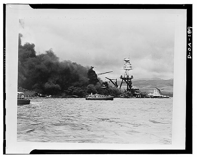 Wreckage of USS Arizona, Library of Congress, call number: LC-USE62- D-OA-000189 [P&P]