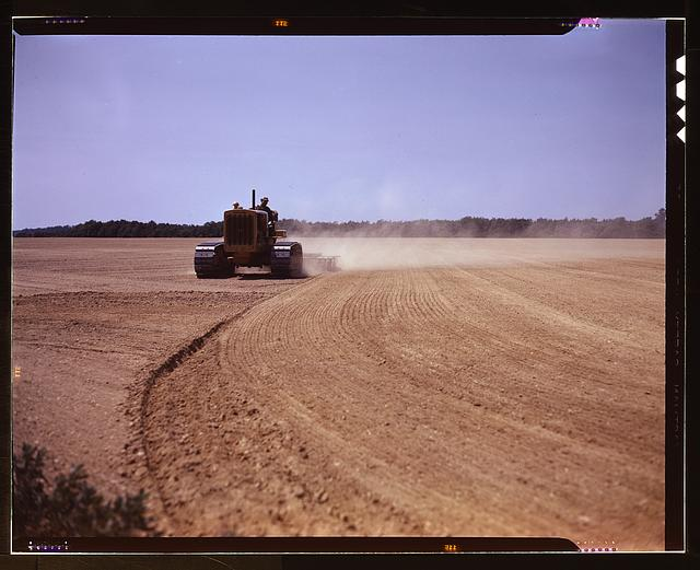 Cultivating a field, Seabrook Farm, Bridgeton, N.J.