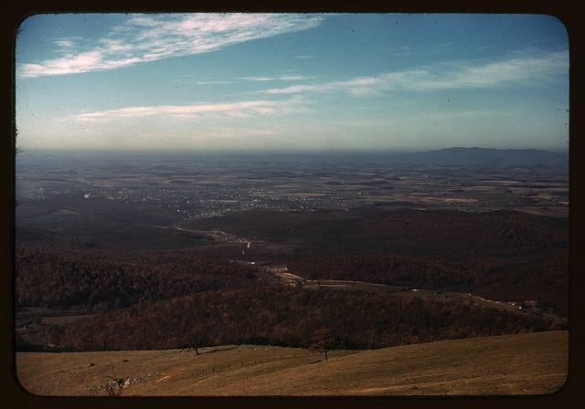 [Valley along the Skyline Drive in Virginia]