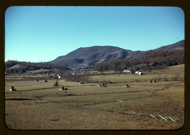 [Mountain farms along the Skyline Drive in Virginia]