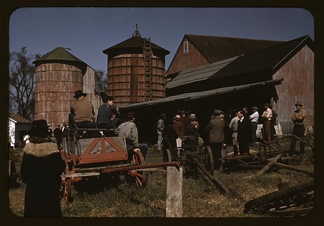 Farm auction, Derby, Conn.