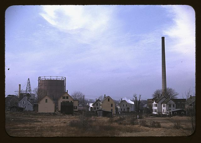 Industrial town in Massachusetts, possibly New Bedford