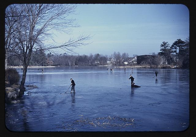 Skating, vicinity of Brockton, Mass.