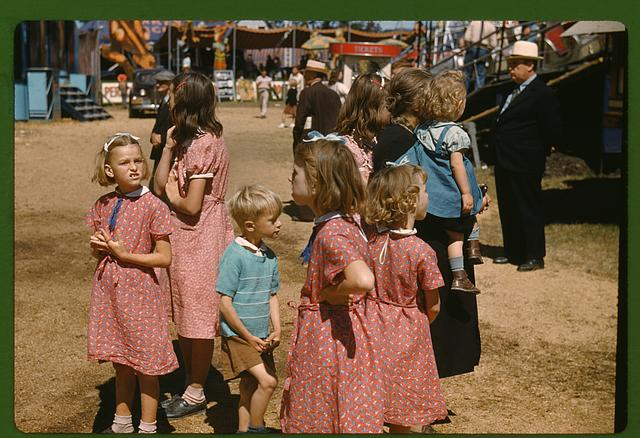Children at the fair