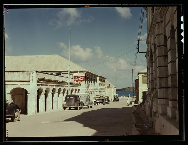 A street in a town of the Virgin Islands, Christiansted, Saint Croix