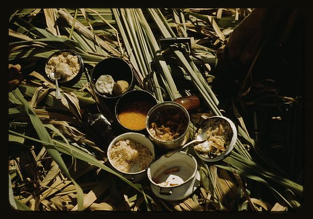 Lunch of a sugar worker on a plantation, vicinity of Puerto Rico?