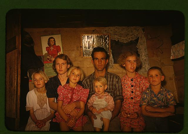 Jack Whinery, homesteader, and his family, Pie Town, New Mexico