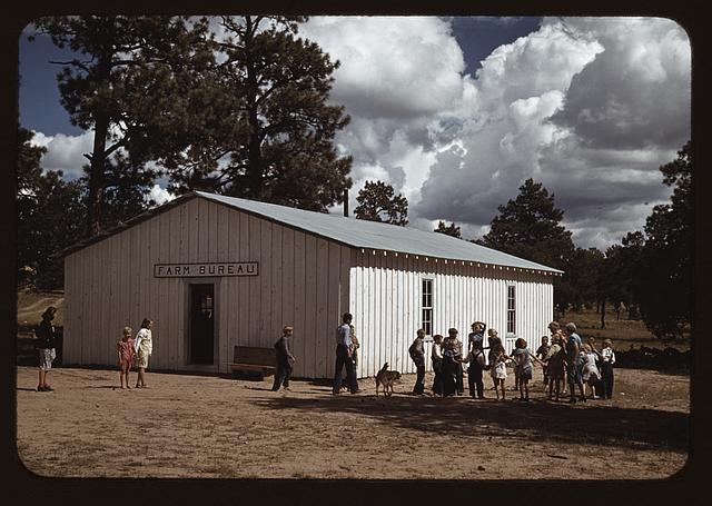 School at Pie Town, New Mexico is held at the Farm Bureau Building