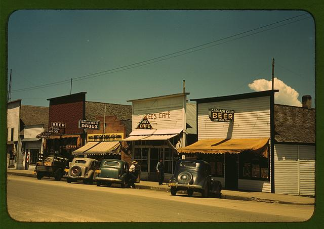 On main street of Cascade, Idaho ...