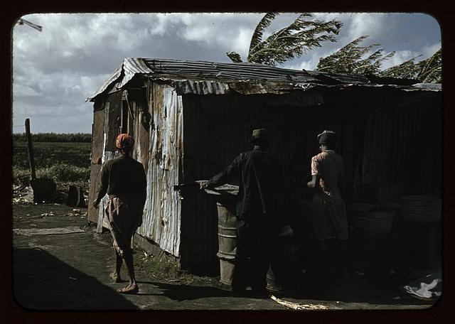 Negro migratory workers and one shack, Belle Glade, Fla.