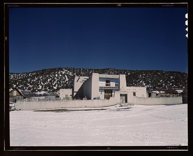 View of the church, Trampas, N[ew] M[exico]