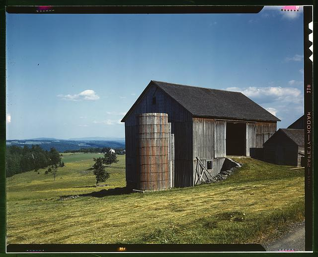 Farmland in the Catskill country, in New York State