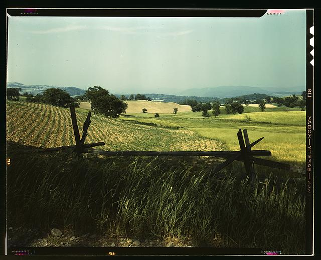Farmland in the Taconic range, near the Hudson River Valley in New York state