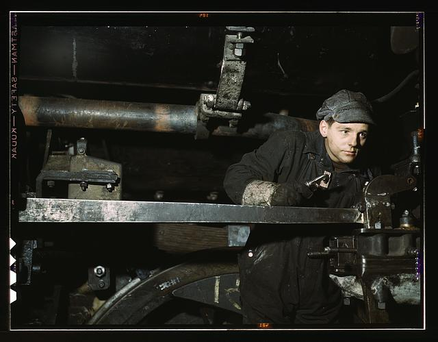 A young worker at the C & NW RR 40th Street shops, Chicago, Ill.