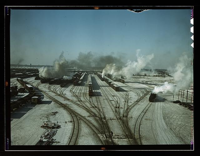 General view of one of the classification yards of the Chicago and Northwestern Railroad, Chicago, Ill.