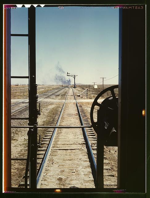 Santa Fe R.R. train, Melrose, N[ew] Mex[ico]