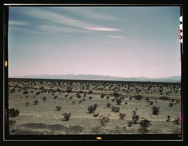 Mojave Desert country, crossed by Santa Fe R.R., Cadiz, Calif.