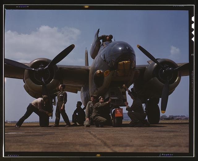 [Servicing an A-20 bomber, Langley Field, Va.]