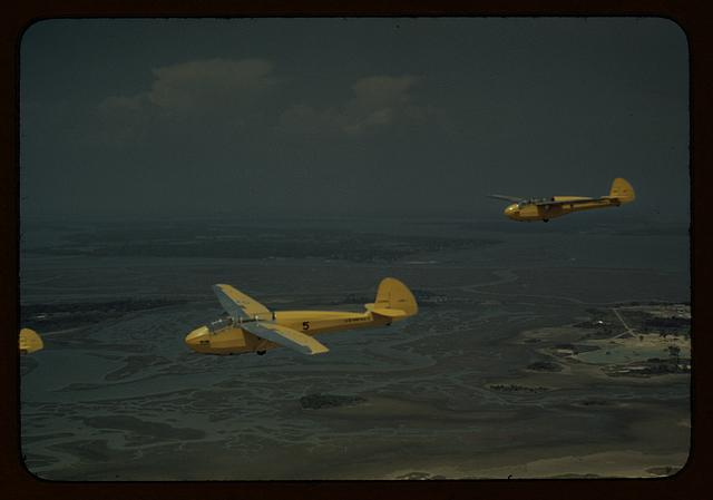 Marine Corps gliders in flight out of Parris Island, S.C.