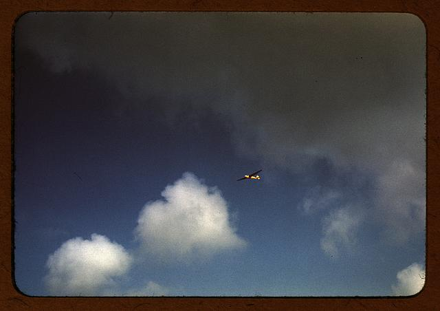 Marine Corps glider in flight, out of Parris Island, S.C.