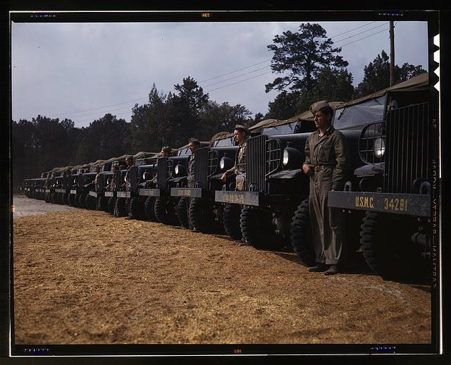 New River Marine Base, motor detachment, North Carolina