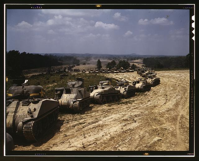 M-4 tank line, Ft. Knox, Ky.