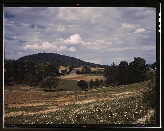 The countryside near the Tennessee Valley Authority dam site, Douglas Dam vicinity, Tenn.