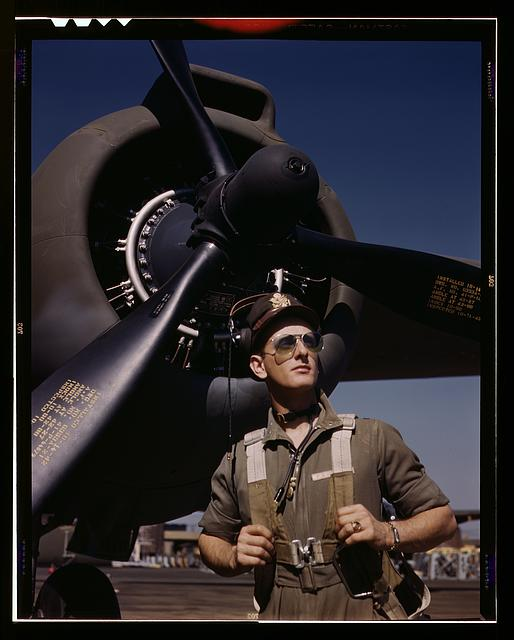 "Lieutenant ""Mike"" Hunter, Army pilot assigned to Douglas Aircraft Company, Long Beach, Calif."