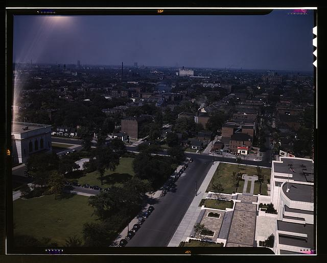 Looking east toward Rackham Building, Detroit, Mich.