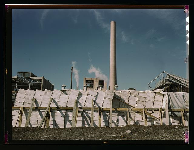 Southland Paper mill, Kraft (chemical) pulp used in making newsprint, Lufkin, Texas