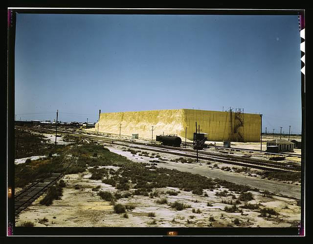 60 foot high sulphur vat, Freeport Sulphur Co., Hoskins Mound, Texas