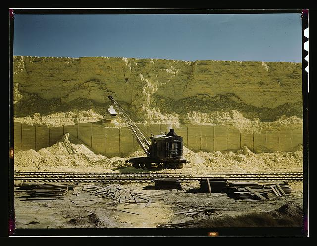 Freeport Sulphur Co., 60 foot high vat of sulphur, Hoskins Mound, Texas