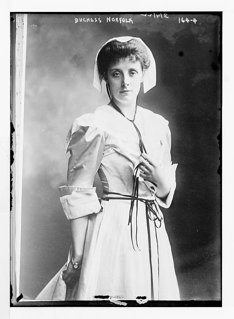 Duchess Norfolk, standing three-quarters