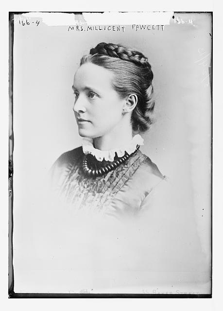Mrs. Millicent Fawcett, portrait bust